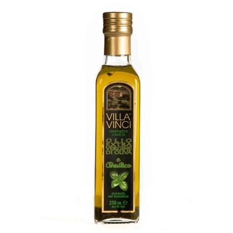 VILLA VINCI Olio Extra Vergine di Oliva Aromatizzati - Basilico 250ml.