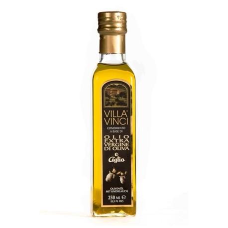 VILLA VINCI Olio Extra Vergine di Oliva Aromatizzati - Aglio 250ml.